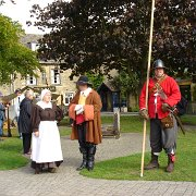 A group of The Sealed Knot in English Civil War costume