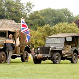 Military vehicles and Classic cars on QEII field