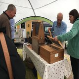 North Cotswold Beekeepers with their 'observation hive'