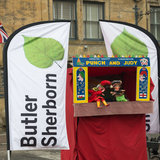 Professor Dogsbody's traditional Punch and Judy show gets underway