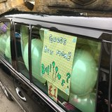Guess the number of balloons in the limo competition