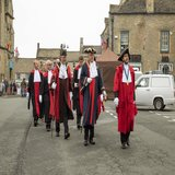 he Alcester Court Leet march across the Square to the Queens Head