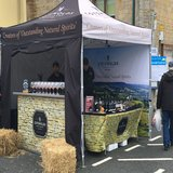 Cotswold Distillery Gin Bar ready to go. They did so well they stayed on to the evening
