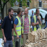 Ed Bonn from the Cotswold Conservation Board congratulates the wallers